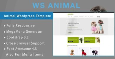 WS Animal – Animal WooCommerce Theme