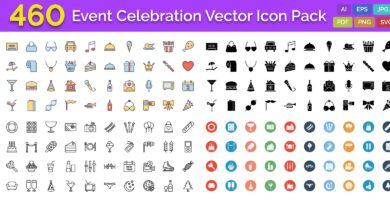 460 Event Celebration Vector Icon Pack