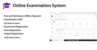 OES – Online Examination System PHP