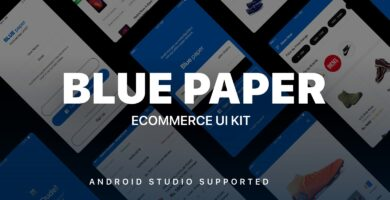 Blue Paper – Android Studio UI Kit