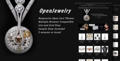 Open Jewelry – Responsive OpenCart Theme