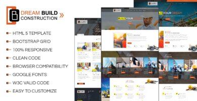 Dream Build – Construction HTML5 Template