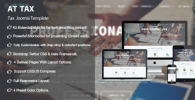 AT Tax – Tax Joomla Template