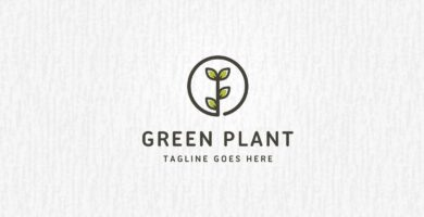 Green Plant Logo Template