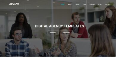 Advent – One Page MultiPurpose HTML5 Template