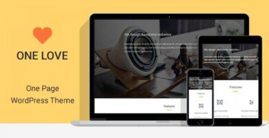 One Lover – One Page WordPress Theme