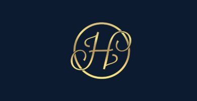 Letter H – luxury logo