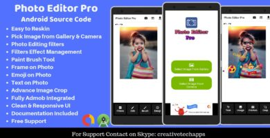Photo Editor Pro – Android App Source Code