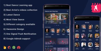 Dance Learning Video App – Android Source Code