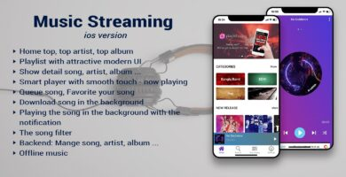 Music Streaming iOS App Template