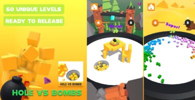 Hole vs Bombs – Unity 3D Complete Project