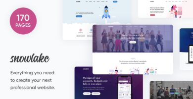 Snowlake – SaaS Business And Startup Template