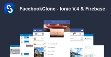 FacebookClone – Ionic V4 And Firebase