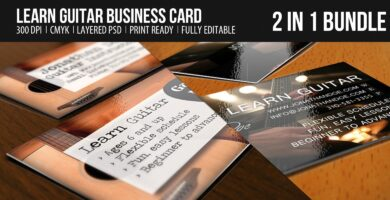Learn Guitar Business Card