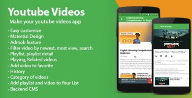 Youtube Videos – Android App Template