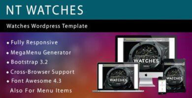 NT Watches – Watches Shop WordPress Theme