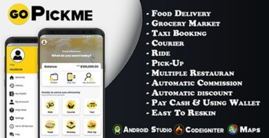 GoPickme – On Demand Services Android Template