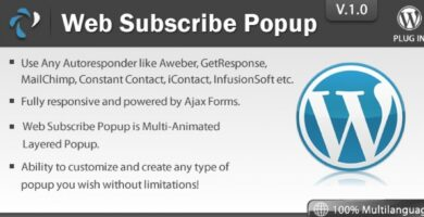 Web Subscribe Popup – WordPress Plugin