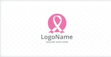 Breast Cancer Pink Ribbon Logo
