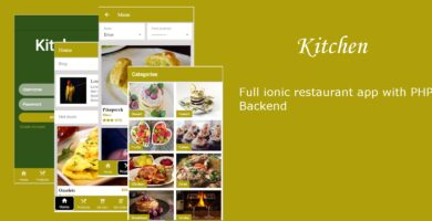 Kitchen – Ionic 3 Restaurant App With PHP Backend