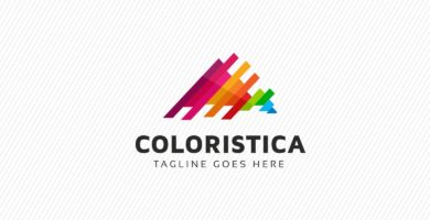 Triangle Colorful Logo Template