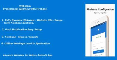 Webarjun – Android Webview App With Firebase Backe