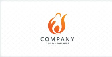 People Ignite Logo Template