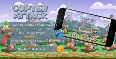 Copter Attack – Buildbox Template