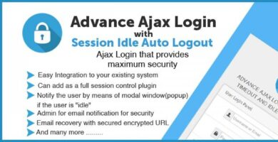 Advance Ajax Login System – PHP Script