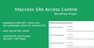 htaccess Site Access Control – WordPress Plugin